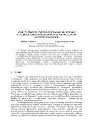 analiza modeli i metod wspomagania decyzji w module ... - Ozyrys