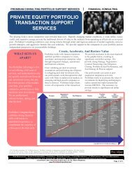 private equity portfolio transaction support services - Prosidian