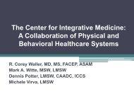 The Center for Integrative Medicine: A Collaboration of ... - MI-PTE