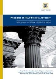 RACP_Principles of Policy & Advocacy_Handbook - The PR Report