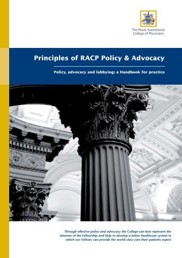 RACP_Principles of Policy & Advocacy_Handbook - The PR Report