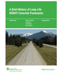 The Evolution of Long-Life Concrete Pavement in Washington State
