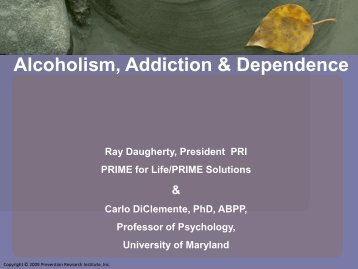 Alcoholism, Addiction & Dependence - MI-PTE