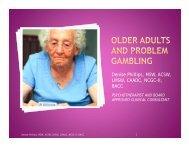 Seniors and Problem Gambling - MI-PTE