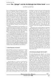 """Der """"Spiegel"""" und die Archäologie des frühen Israel - Wort und Wissen"""