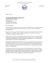 Letter to President Obama in Support of Keystone XL Pipeline
