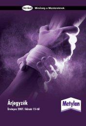 Árjegyzék - Metylan