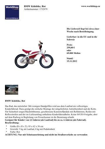 BMW Kidsbike, Rot