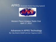 Advances in APRS Technology - Western Placer Amateur Radio Club