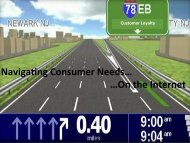 Navigating Consumer Needs on the Internet - Corporate Insight