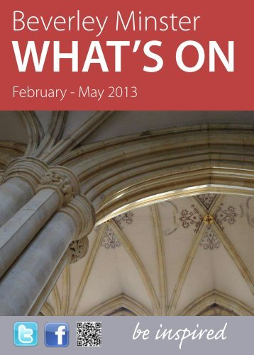 What's On at Beverley Minster: Feb – May 2013