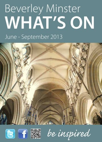 What's On at Beverley Minster: June to September 2013