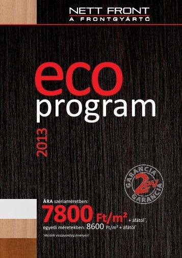 Az eCo program letöltése, amely tartalmazza a ... - Falco Depo Udvar