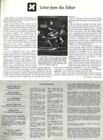 Letter from the Editor = - Wrestling USA Magazine
