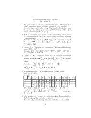 Valószínöuségszámítás vizsga megoldása 2013. május 29. 1. A 0 ...