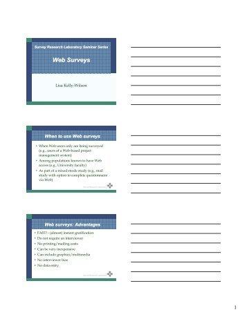 Web Surveys - Survey Research Laboratory