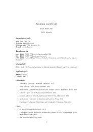Szakmai önéletrajz - BME Számítástudományi és Információelméleti ...