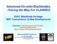 Advanced On-orbit Blackbodies - Modeling, Analysis, and Prediction ...
