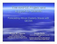 The MAP06 Project and support to NAMMA - Modeling, Analysis ...