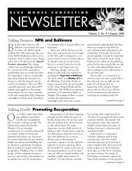 BMC Newsletter, Vol. 3, Issue 8 - August 2006 - Blue Moose ...