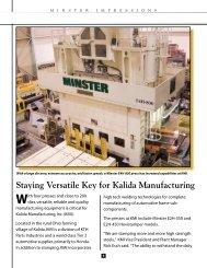 Kalida Manufacturing, Inc. - Minster Machine Company