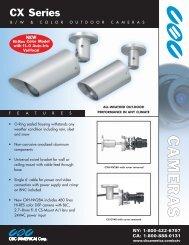 CX Series Outdoor Cameras - Security Camera Systems