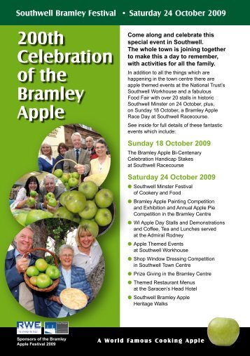 200th Celebration of the Bramley Apple - Southwell Town Council
