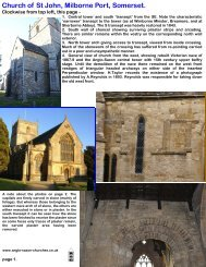 pictures of Milborne Port church - Anglo-Saxon churches