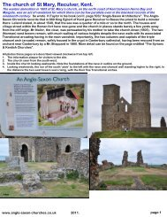 The church of St Mary, Reculver, Kent. - Anglo-Saxon churches