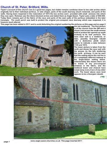 Britford church, Wiltshire - Anglo-Saxon churches