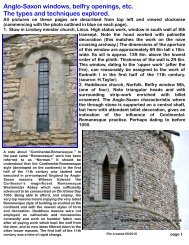 Anglo-Saxon windows, belfry openings, etc. The types and ...