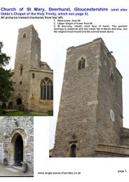 Deerhurst church, Gloucestershire - Anglo-Saxon churches