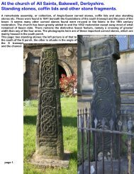 Bakewell, Derbyshire, carved stones at. - Anglo-Saxon churches