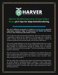 Harver Health Insurance Group Tokyo News på 6 tips for kjøp helseforsikring