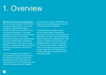Consumer Impact Report - overview (pdf, 271kb) - Legal Services ...