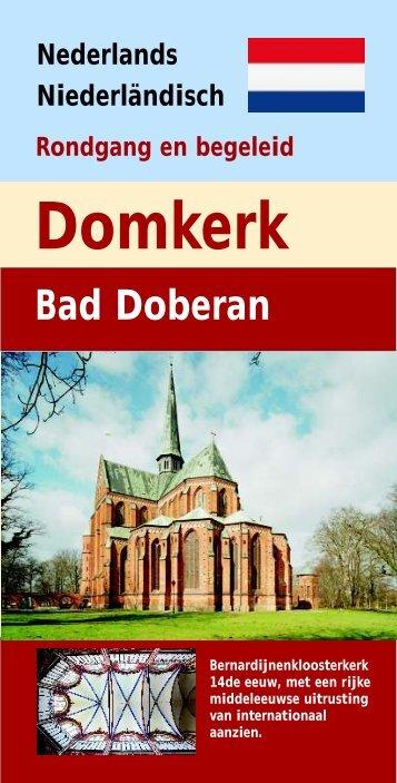 Heft niedrländisch 9.9.09 Druckversion.cdr - Doberaner Münster