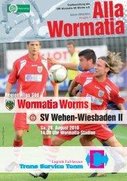 28.08.2010 SV Wehen-Wiesbaden II - Wormatia Worms