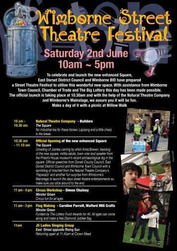 Wimborne Street Theatre Festival Programme - Visit Dorset