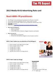The PR Report_2011-2012 Media Kit & Advertising Rate Card