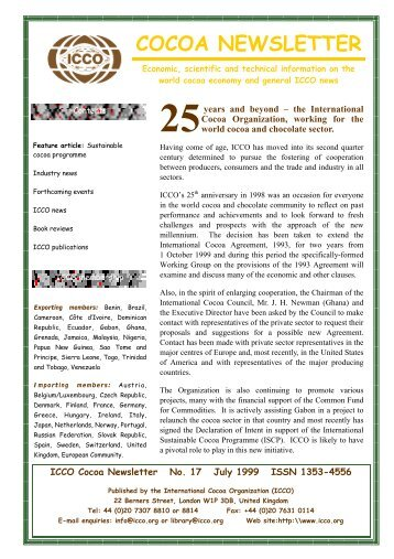 COCOA NEWSLETTER - World Agroforestry Centre