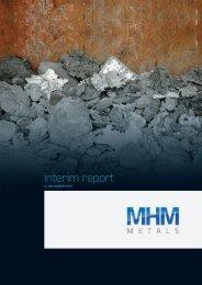interim report - MHM Metals