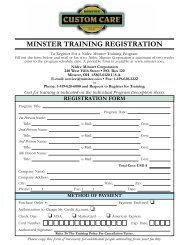 To Download Registration Form (pdf format) - Minster Machine ...