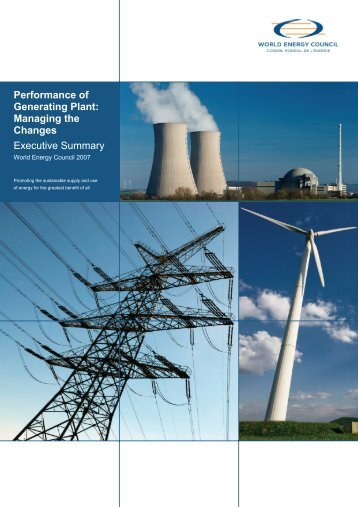 Performance of Generating Plant - World Energy Council