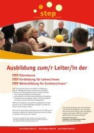 Flyer zum Herunterladen - Schweiz - STEP