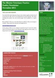 Poultry Newsletter - November 2011 - Minster Vets