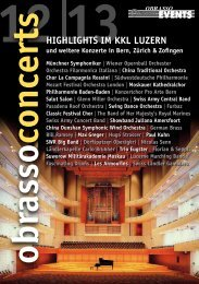 obrasso concerts HigHligHts im KKl luzern - World Band Festival ...