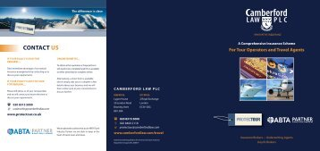 Travel and Tour Operator Insurance Scheme Brochure - Camberford ...
