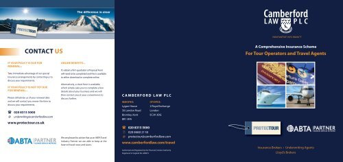 Travel and Tour Operator Insurance Scheme Brochure