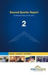 2nd Quarter 2012 - MainSource Bank
