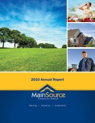 2010 Annual Report - MainSource Bank